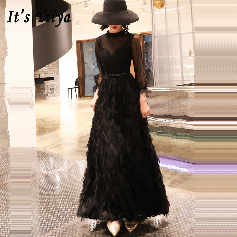 Prom Dresses Black Long Short Plus Size Sexy High Collar Vestidos De Gala  Slim Sleeveless Dresses Women Party Night 2019 E556