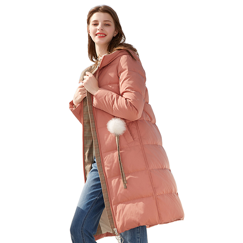 2018 new Winter duck   down     coat   women's clothing large size Thick warm long   Down   jacket High quality white duck   down     coat