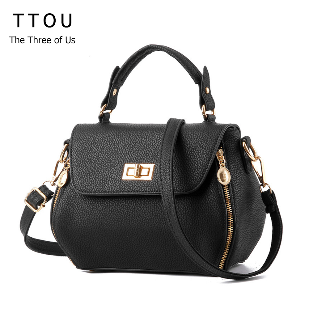 TTOU Design Small Women Shoulder bag Spring Fashion Women Messenger Bag Candy Color Women Bag trendy zippers and candy color design women s tote bag