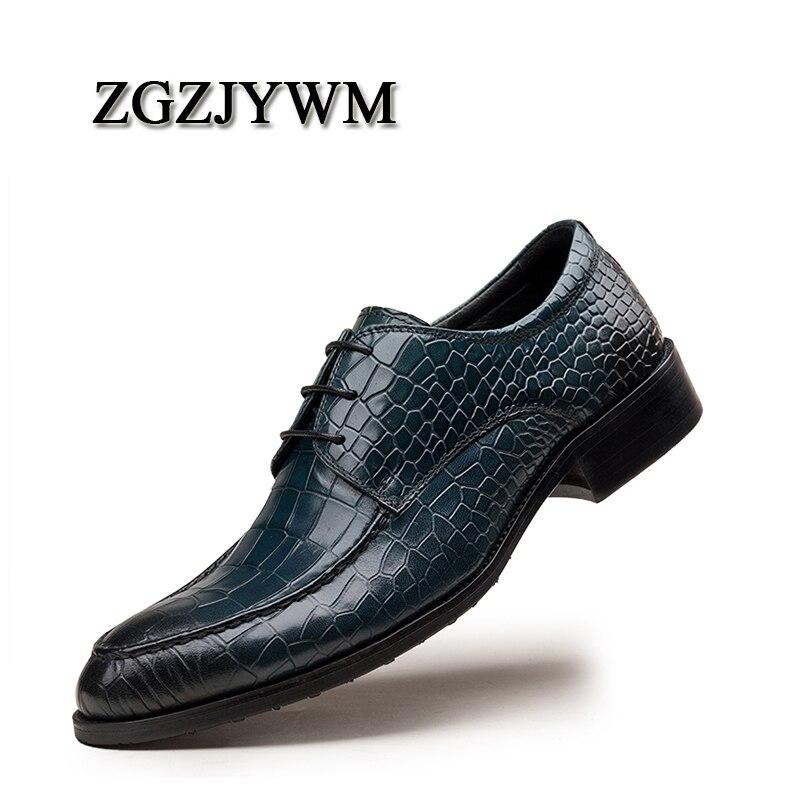 Cobra Casuais Zgzjywm Handmad Sapatos De Noiva Homens Couro Negócios Oxfod 100 Pele Padrão blue brown Genuíno Vestido up Black Lace wwO0dq