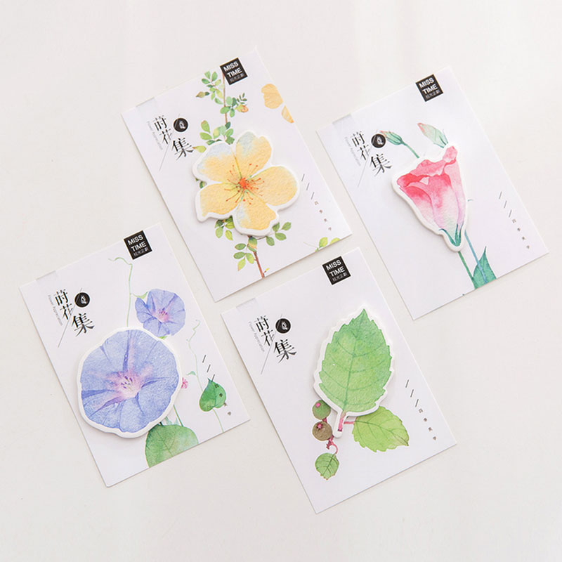 4 pcs/lot Beautiful leaves plant memo pad paper Post notes sticky notepad stationery papeleria school supplies kids gifts