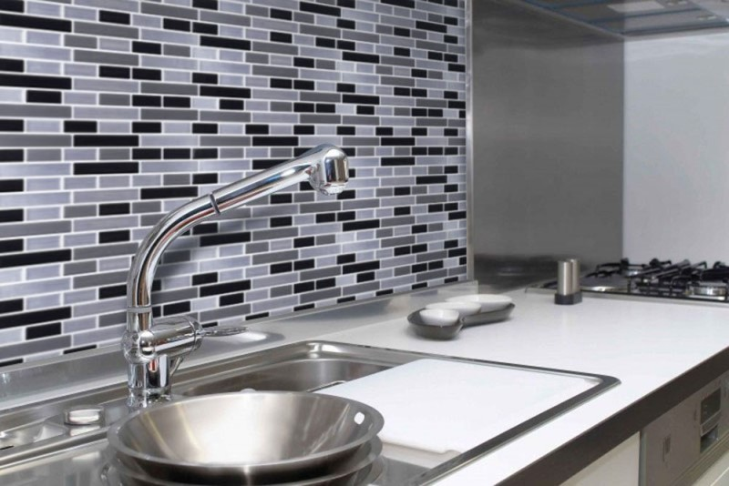 YIYASU Vinyl Mosaic Backsplash
