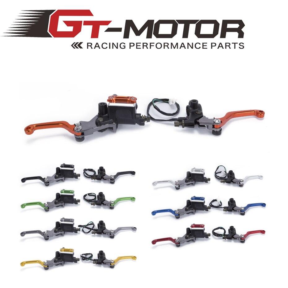 GT мотор - БЕСПЛАТНАЯ ДОСТАВКА 7/8 22mm мотор Байк цилиндра тормозной рычаг сцепления для Kawasaki KLX250 д-трекер 1993-2013