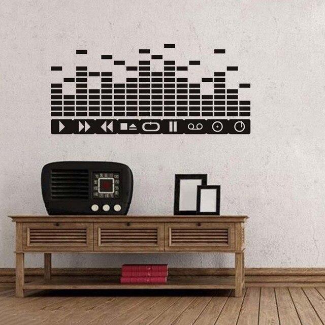 Lustige Wand Dekorative Aufkleber Dj Tasten Equalizer Kreative Muster  Wandaufkleber Diy Vinyl Wasserdichte Musik Hinweis Adhesive