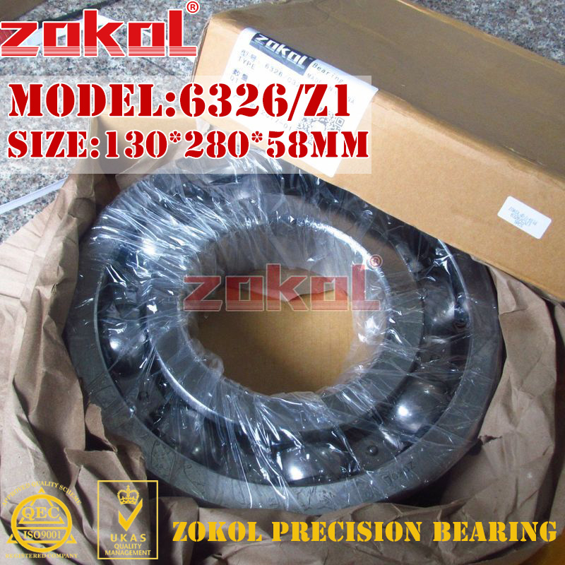 ZOKOL bearing 6326 C3Z1 3G326 Z1 Deep Groove ball bearing 130*280*58mm zokol bearing 6318 318 deep groove ball bearing 90 190 43mm