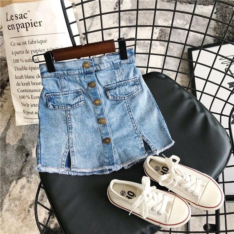 2 3 4 5 6 Jahre Mädchen Jeans Shorts Korean Casua Kidsl Cowboy Culottes Kleinkind Baby Elastische Taille Denim Shorts Sommer Neue Ankunft
