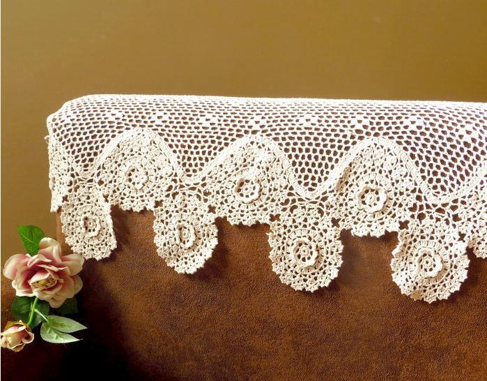 Creativo crochet cortinas for Cortinas de gancho para cocina