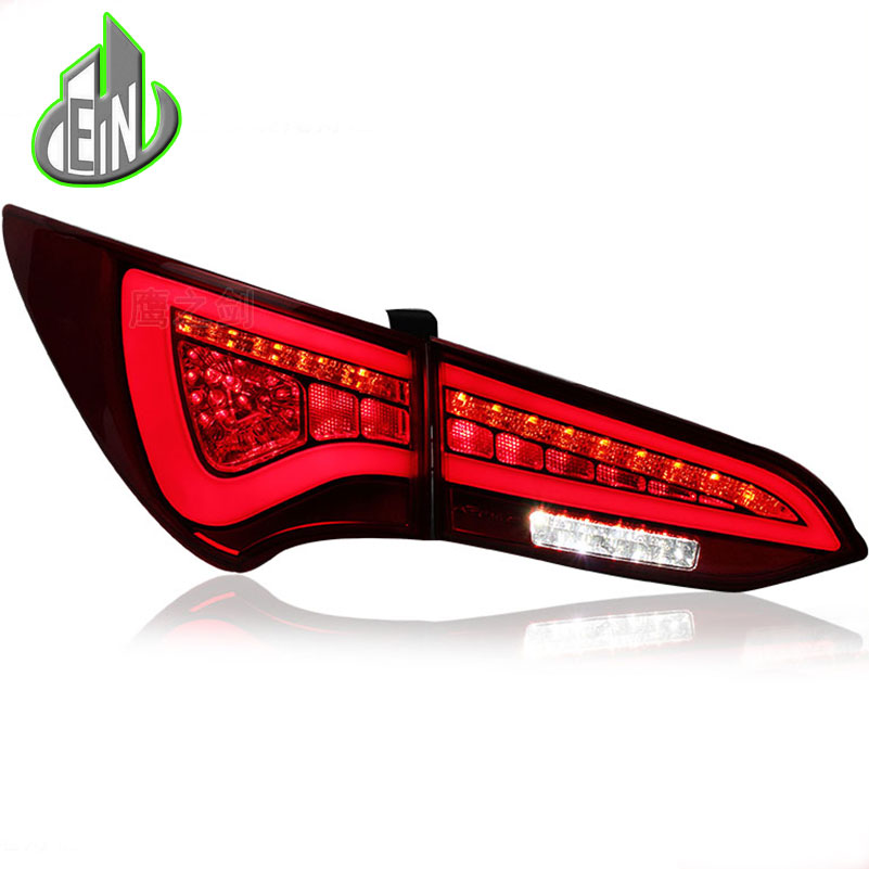 EN Car Styling 2014-2015 For Hyundai IX45 Taillights New SantaFe LED Tail Lamp IX45 LED Rear Lamp DRL+Brake+Park+Signal one stop shopping styling for ix45 led tail lights 2014 new santa fe ix45 tail light rear lamp drl brake park signal