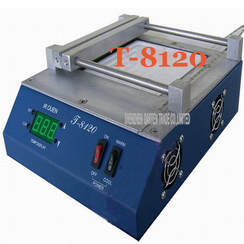 1PC T-8120 500w Infrared BGA IRDA WELDER+SMD Infrared Preheating station preheat and desoldering FOR BGA/SMD/CSP etc puhui t862 irda infrared bga rework station bga smd desoldering rework station free tax to eu