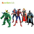 "The Avengers 5"" Captain America Wolverine Thor Spiderman Batman 14cm 6 pcs/lot Action Figures Toy Gifts HT60100MU"