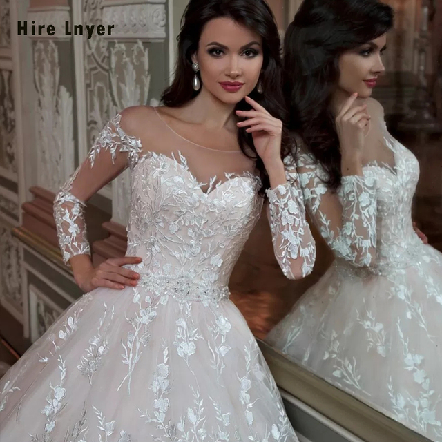 Robe De Mariee Princesse De Luxe Shiny Beading Crystal Waist Luxury Lace Ball Gown Wedding Dresses Alibaba Online Shopping 3