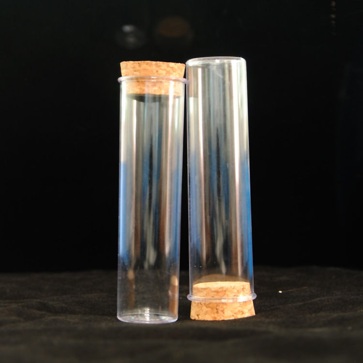 30 шт./лот 30x115 мм пластиковая пробирка с пробковым плоским дном прозрачная лабораторная пустая ароматическая чайная трубка как стекло