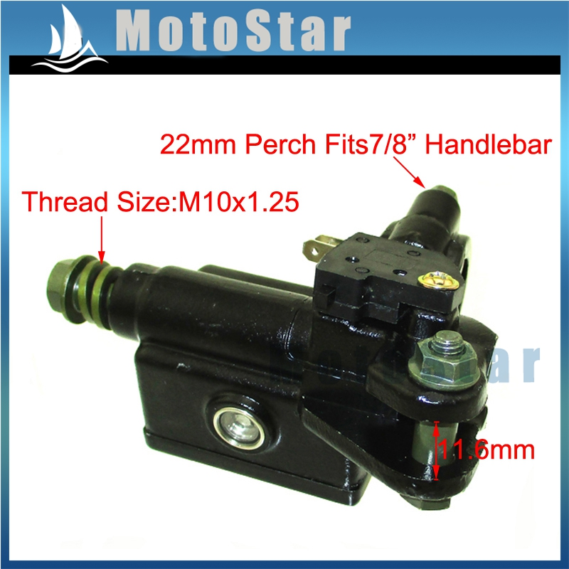 M10x1.25mm Front Right Brake Master Cylinder For Pit Dirt Motor Bike ATV Quad