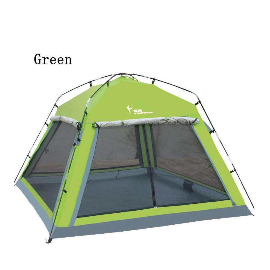 1pcs Camping Tent 4 person Outdoor Equipment Single room Family Tourism Beach Tents Waterproof tent 3 4 person ultralight portable aluminum rod camping tent outdoor tourism beach snow skirt fishing waterproof camouflage tente