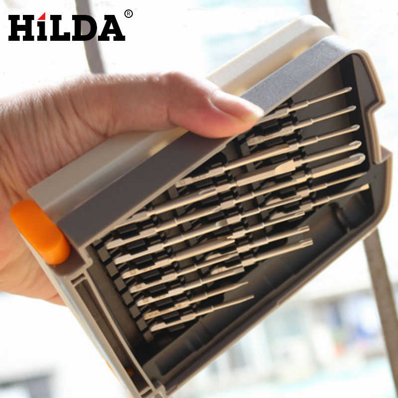 HILDA 22Pcs/Set Magnetic Precision Screwdriver Set,S2 Alloy Steel Repair Tool Kit For Phones/Computer/Electronics Hand Tool Sets