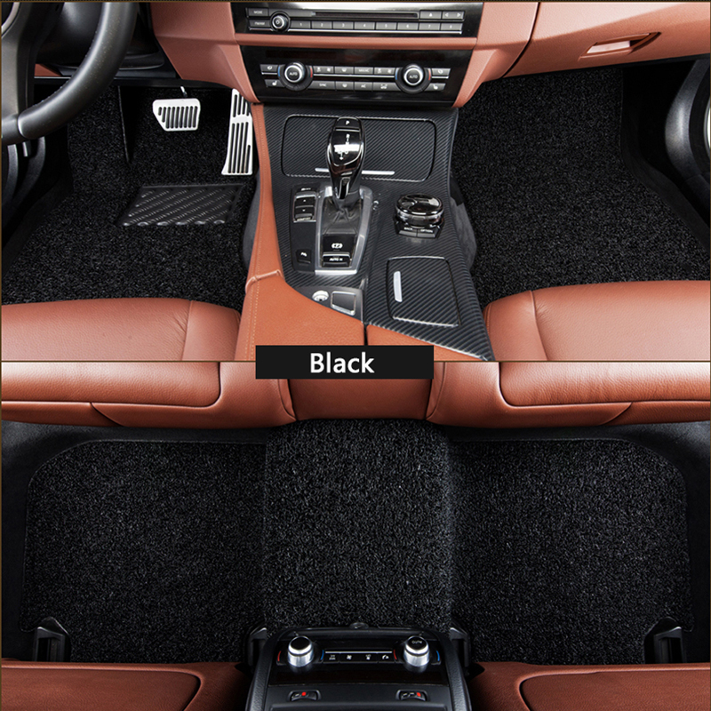 Flash mat Wire car floor mats for Kia sportage 2000-2013 2014 2015 2016 2017 2018 Custom foot Pads automobile carpet covers