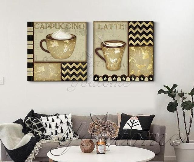 Genial Abstract Cup Coffee Print Frameless Canvas Art Painting Home Decoration  Kitchen Wall Art Kitchen Canvas Paintings