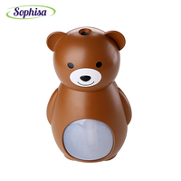 Sophisa 160ml Cartoon Small Bear Shape Usb Mini Air Humidifier Aroma Essential Oil Diffuser LED Lights
