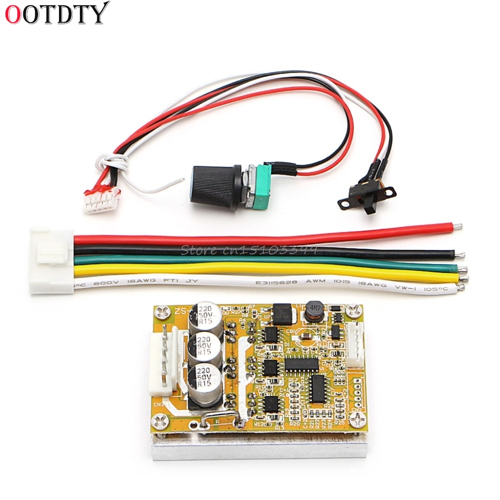 OOTDTY 350W 5-36V DC Motor Driver Brushless Controller BLDC Wide Voltage High Power Three-phase Motor Controller Drop Ship