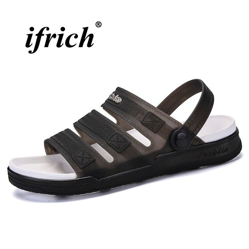 Good Quality Sandals Slide For Men Wearable Men Walking Beach Shoes Anti-Slip Men Travel Slippers Weight Light Slippers Plastic