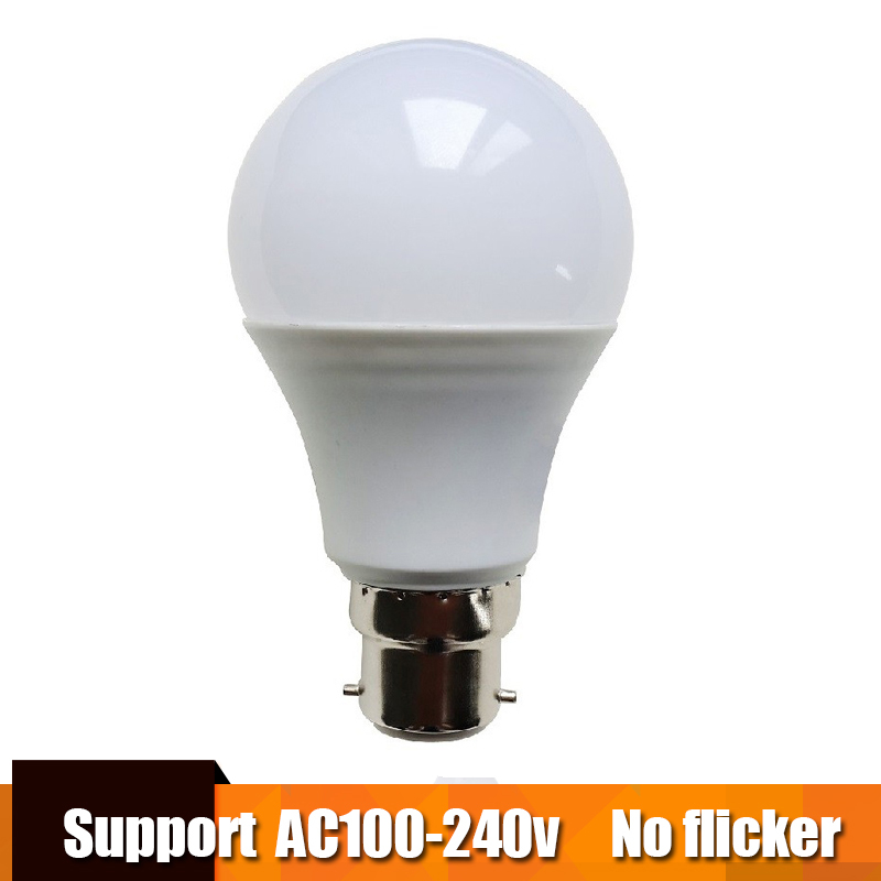 Real Power LED Bulb B22 LED Lampada Ampoule Bombilla 3W 5W 7W 9W 12W 15W LED Lamp 220V Cold/Warm White Led Spotlight