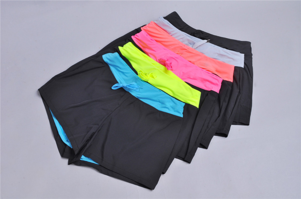 Double-Layer Sportswear Short Workout Marathon Yoga Fabric Exercise Fitness No-Embarrassment