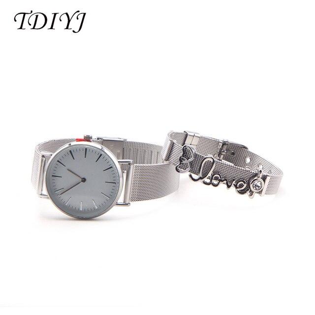 Tdiyj keeper сетчатые часы из нержавеющей стали diy сетчатый