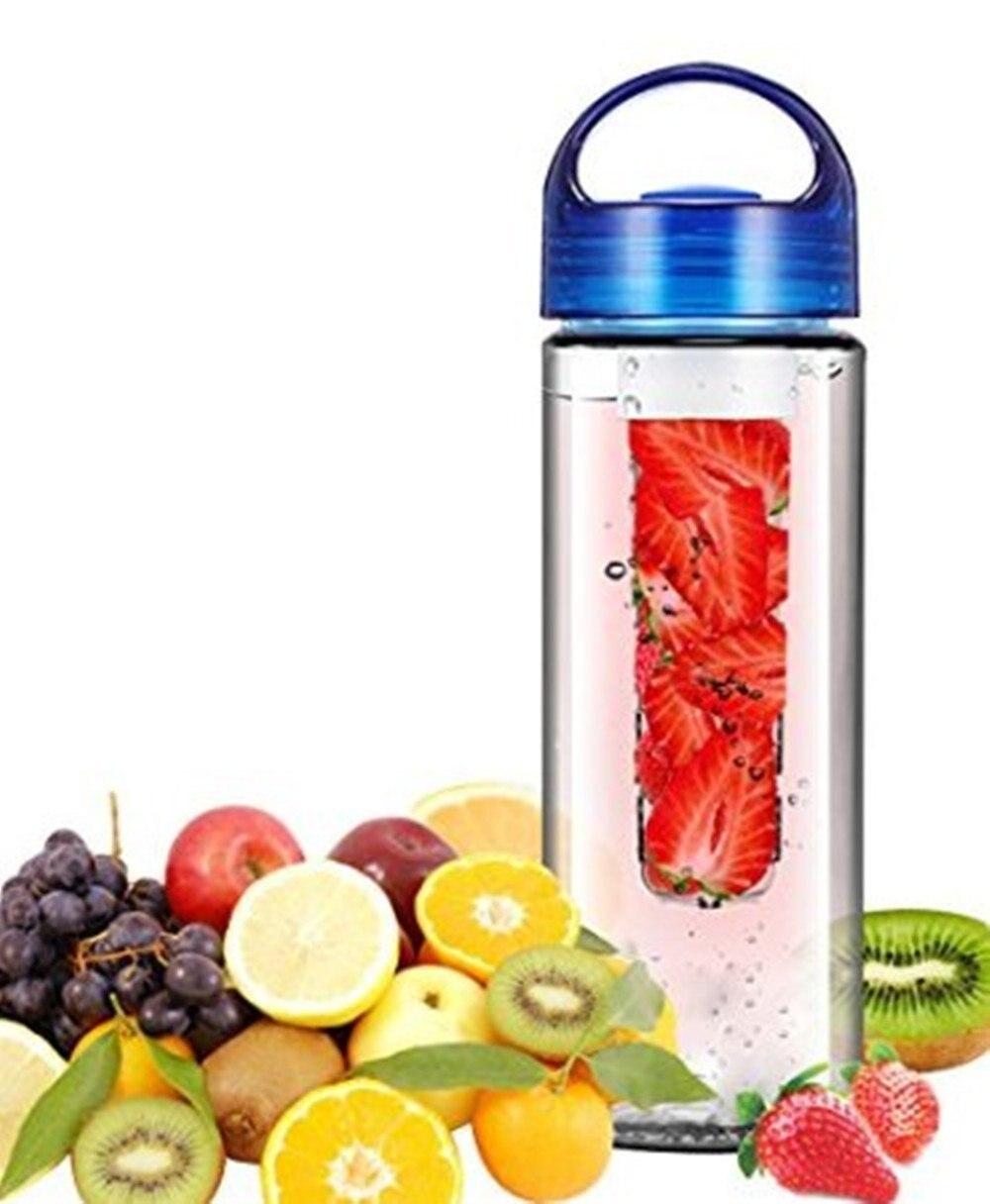 Пластик бутылка для воды с фильтром герметичные Спорт Пеший Туризм Кемпинг пить шейкер бутылка фрукты Настой бутылки 700 мл