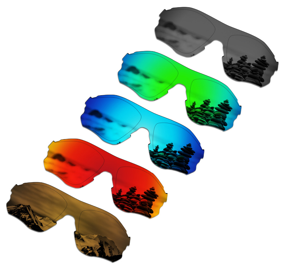 SmartVLT 5 Pieces Polarized Sunglasses Replacement Lenses for Oakley EVZero Path - 5 Colors