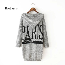 RosEvans Causal Open Cardigant Hooded Sweater New Women Knitted Sweater Female Cardigan Outerwear 2017 Summer Sweater B285