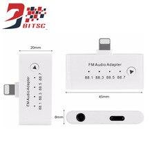 SZBITC FM Transmissor adaptador de áudio Com Jack de 3.5mm do fone de ouvido Fone De Ouvido carregador iPhone7 5S do porto para o iphone 5 6 6 s 7 plus ipad