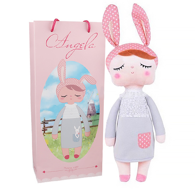 Hot Metoo Doll Angela Rabbit Plush Stuffed Animal Kids Toys for Girls Children Birthday  Gift 13 Inch Accompany Sleep