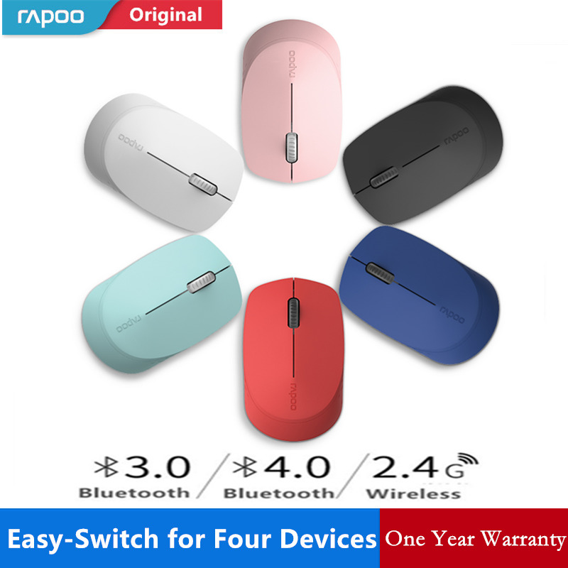 Bluetooth Sem Fio Rapoo 4.0 rato mudo Escritório Ratos Mouse óptico Sem Fio para Computador Portátil Tablet