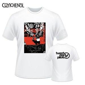 Image 4 - Twintig Een Piloten 7xl Korte Mouwen Oversized Aanpassen Print Tshirt Mannen Grote Maat Modal O hals T shirt Casual Effen Kleur Tee