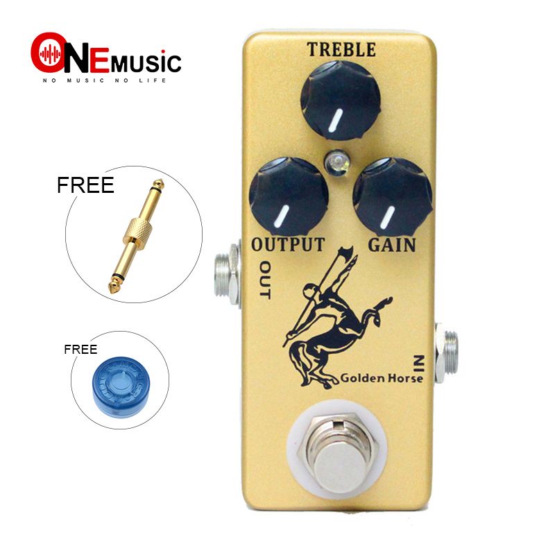 MOSKY Golden Horse Guitar Pedal Overdrive Guitar Effect Pedal Full Metal Shell True Bypass Guitar Parts & Accessories