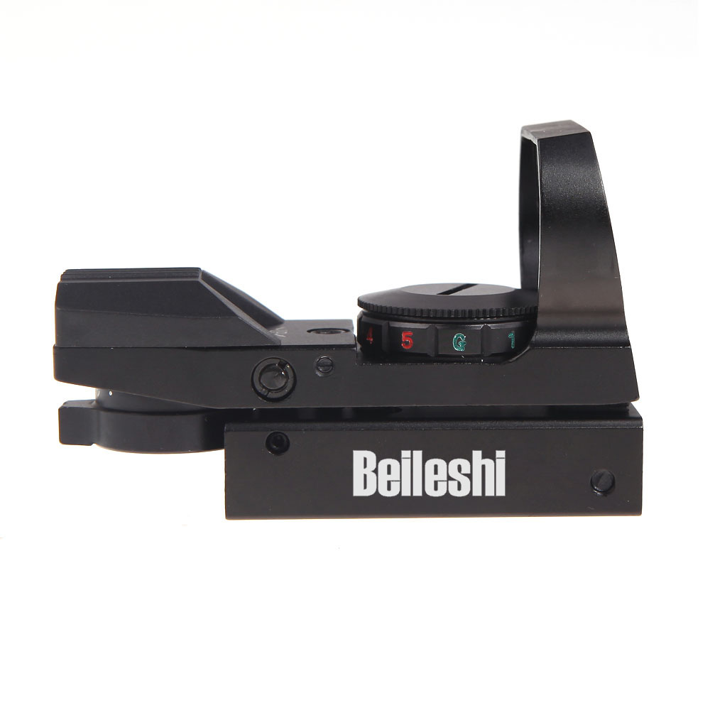 Holographic 4 Reticle Electro Red/Green Dot Scope Tactical 33*22mm Reflex Sight Mount Hunting Combat Military