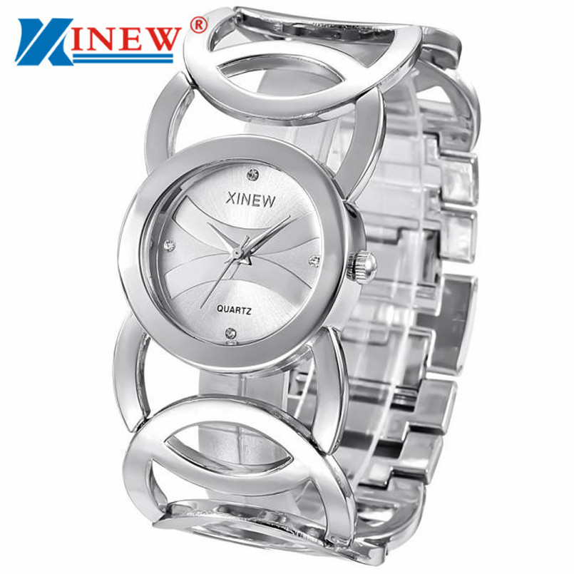 Xinew Brand New Arrival Luxury Casual Women S Watches Golden Silver