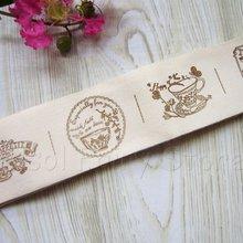 40 мм x 10 М Zakka ручной работы хлопчатобумажная лента швейная лента тканевая тесьма-кофе время