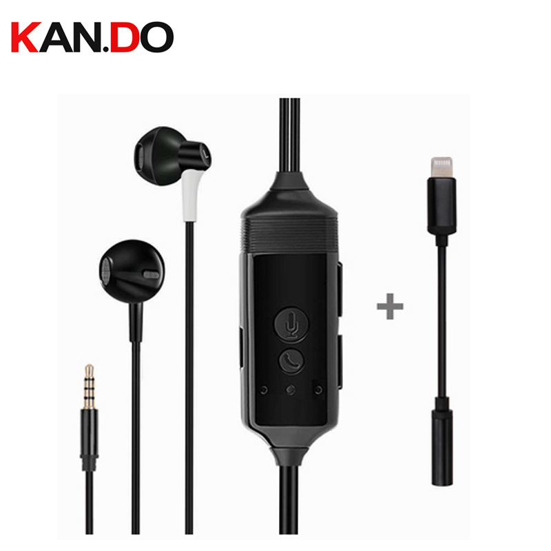 512MB écouteur enregistreur numérique enregistreur vocal pour Iphone 7 8 X éclairage jack écouteur enregistreur parlant pour ISO heaset enregistreur
