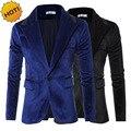Новый 2017 осень зима мужская leisure suit замши мужчины куртки заклинание мех slim fit воротник мужские костюмы Пиджаки дизайн М-3XL