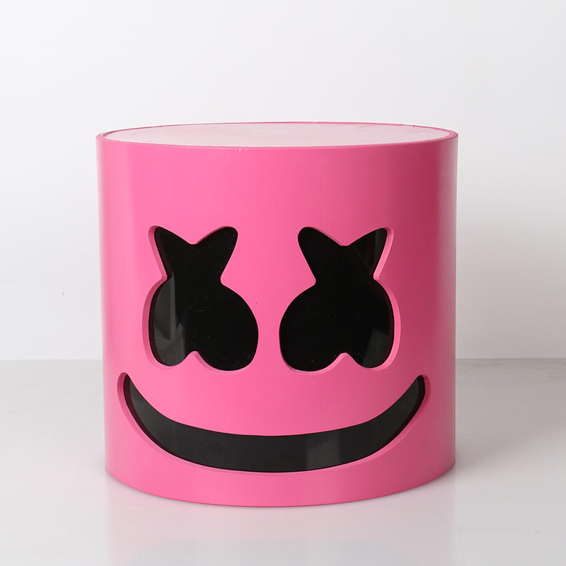 Marshmello Helmet DJ Marshmello Mask Concert Props Future Bass Bars Prop | 27CM | Two Types – Pink Flash Eye