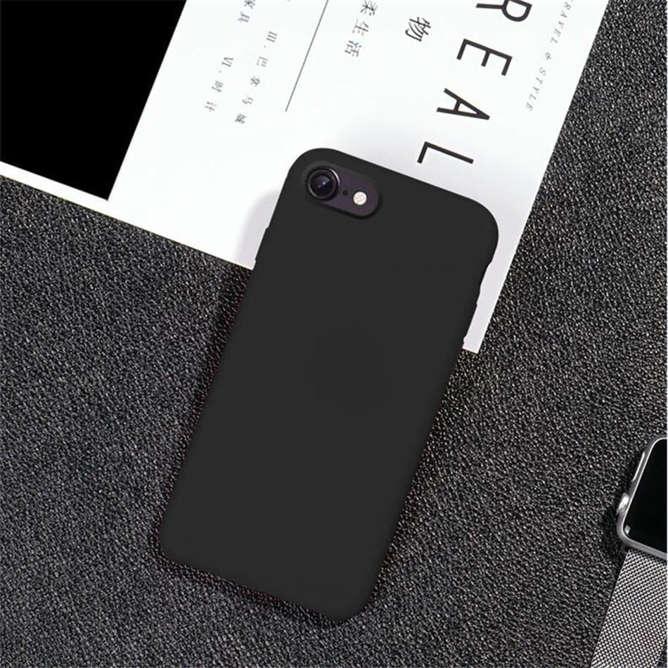 Original Silicone Case on iPhone 7 8 6 6S Plus X 5s 18