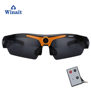 winait hot sell sunglasses with 5.0 Mega 720p with 170 degree wide-angle, HD camera lens sunglasses free shipping