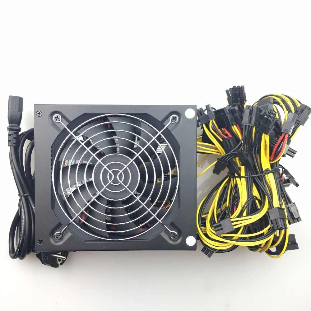 Fonte de alimentação para computador, frete grátis 1600w, equipamento para mineração de pico psu asic bitcoin miner para rx 470 rx 580 rx 570 rx480 atx btc