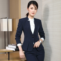 High Stripe Suit Woman Autumn Fashion Time Will Code Dress Long Sleeve Work Clothes Self Cultivation