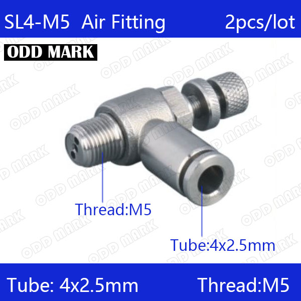Free shipping 2pcs/lot 4mm to M5 SL4-M5,304 Stainless Steel Speed Connector free shipping 2pcs 40mm stainless steel