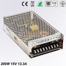 цена на Universal15V13.3A 200W Regulated Switching Power Supply Transformer100-240V AC to DC For LED Strip Light Lighting CNC CCTV MOTOR