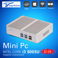Intel cpu 5005u barebone mini pc windows 10 core i3 fanless pc win 7/8/10 max velocidade de 2.6 ghz com hdmi gigabit Lan