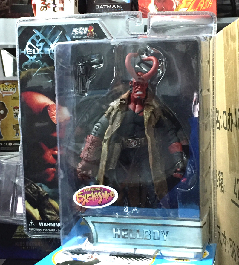 ФОТО Hot Sale Comic Movie Mezco Hellboy Series Ultimate Horns Complete Angle Collection 20CM Action Figure