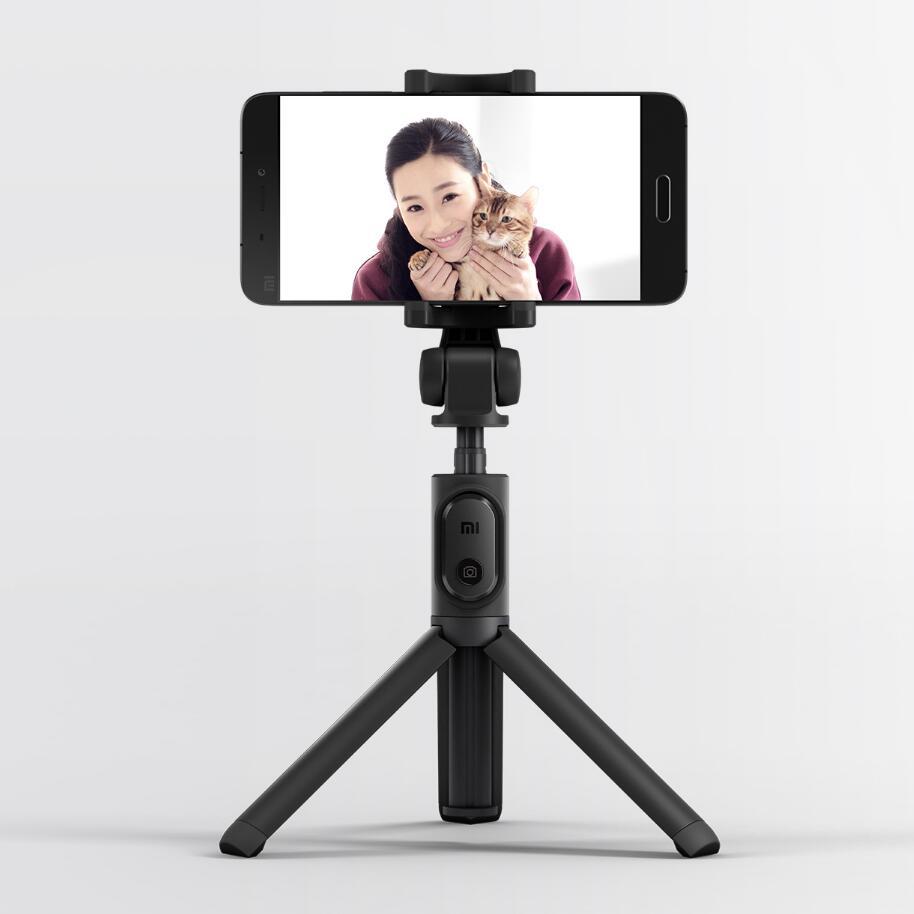 Originale Xiaomi Mi Treppiede Selfie Stick Bluetooth 3.0 Remote 360 Rotazione Leggero Pieghevole Per Smart Phone Android 4.3